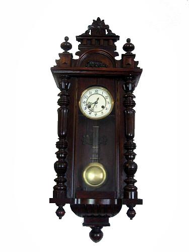 Antico orologio a pendolo da parete Gustav Becker Veroantico