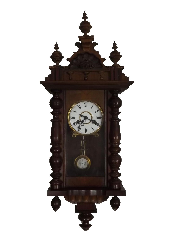 Antico orologio a pendolo con cimasa Veroantico